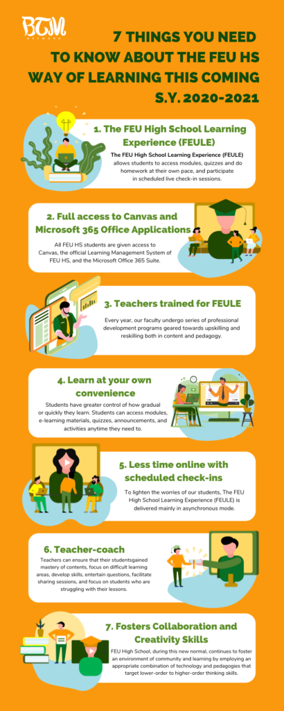 7 Things you need to know about The FEU HS Way of Learning this coming S.Y. 2020-2021