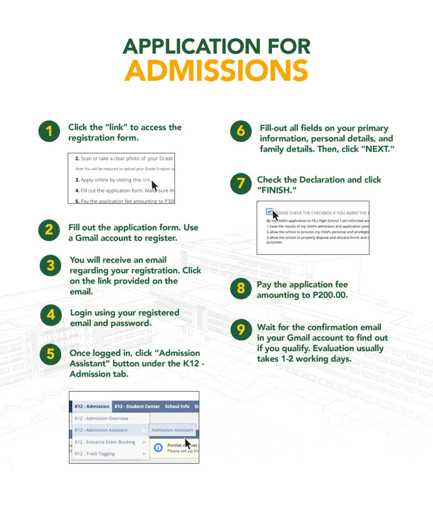 Application for Admissions (S.Y. 2021-2022)