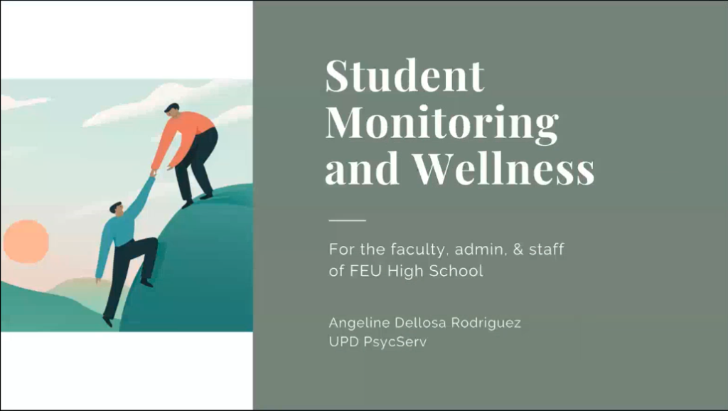 FEU HS Faculty attends INSET on Student Monitoring and Wellness